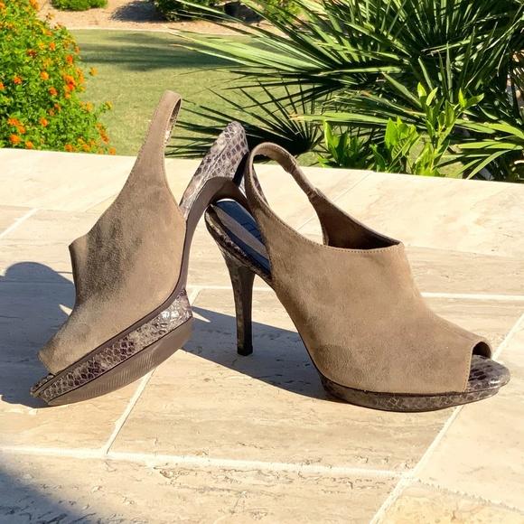 Moda Spana Taupe Shoe Booties.  Size 10.